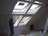 Loft conversion Birmingham rooflight window